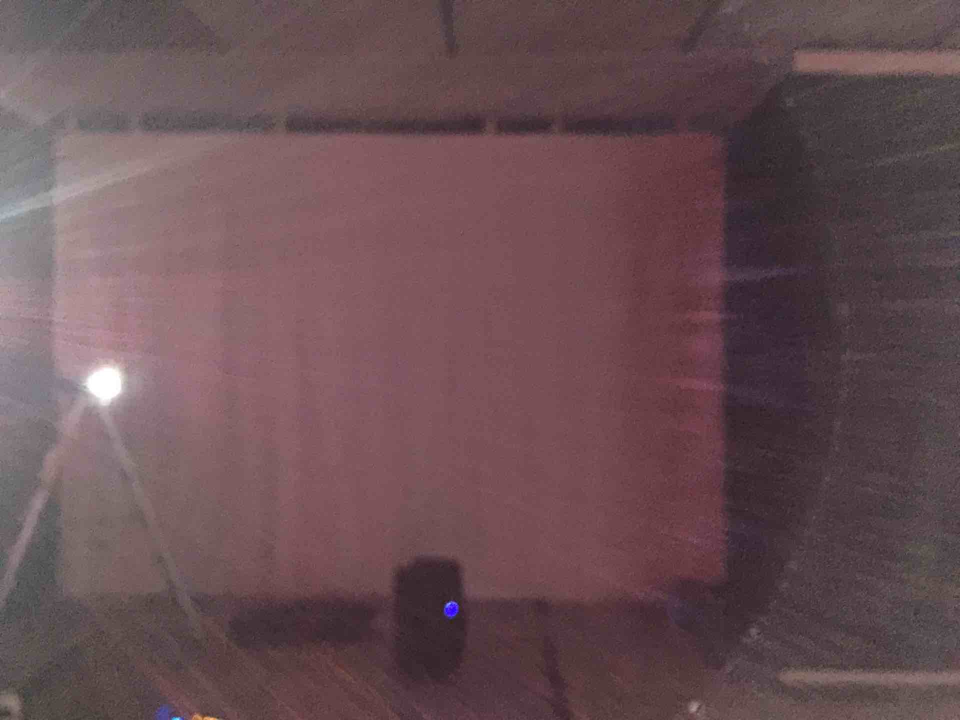 projector and       screen